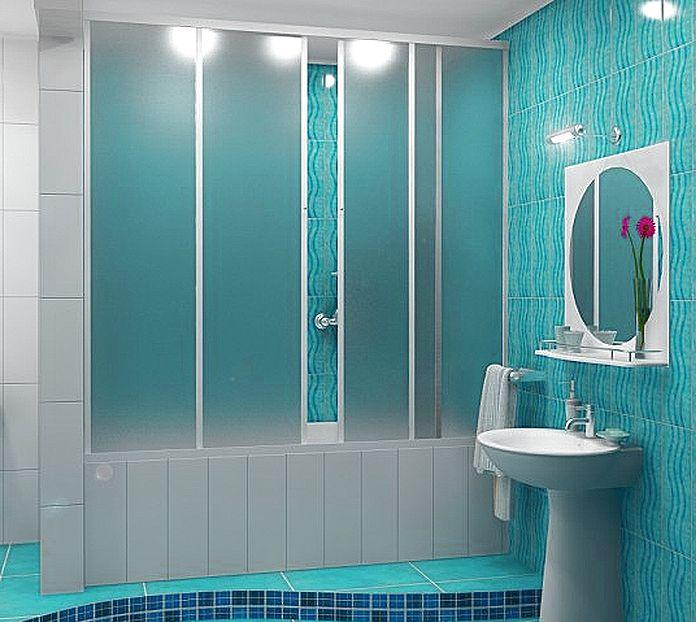 Пластиковая раздвижная шторка для ванной своими руками